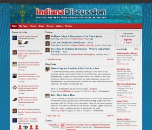 Indiana Discussion Website about Politics