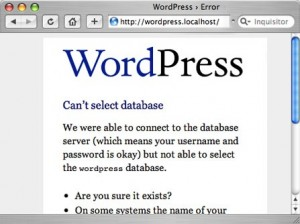 Wordpress Blog Installation Error