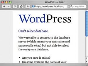 Wordpress Blog Installation Error